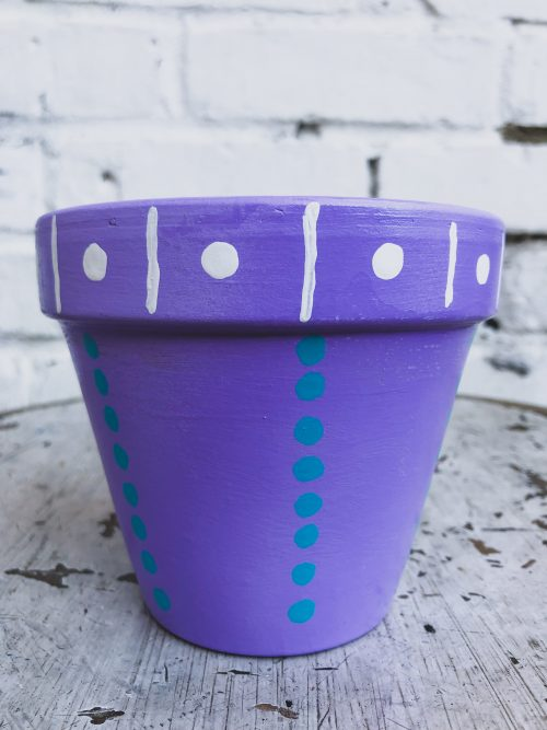 Artisanal Decorative Purple Plant Pot