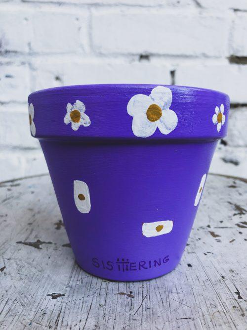 Artisanal Decorative Blue Plant Pot