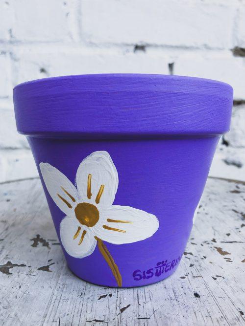 Artisanal Blue Plant Pot
